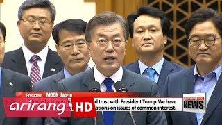 President Moon Jae-in returns home from U.S. trip