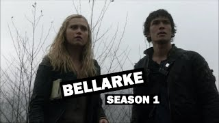 the 100 - all bellarke moments / season 1
