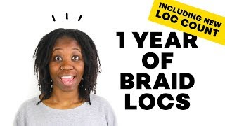 BRAIDLOCS 1 YEAR: PRODUCTS, SHRINKAGE, BUILD UP & MORE | DMCMTL