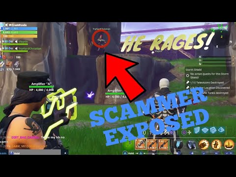 Scammer Gets Scammed In Fortnite PVE HE RAGED MUST WATCH