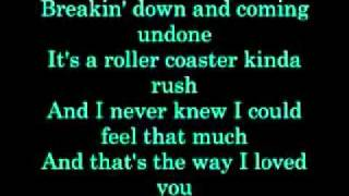 Taylor Swift That's the way I loved you with lyrics