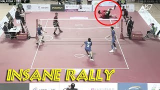 Top 10 Insane Sepaktakraw Rally Actions | HD