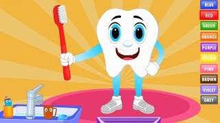 Colors for Children to Learn with Tooth Brush - Learning Colors Activities for Toddlers & Kids
