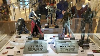 Star Wars ROGUE ONE all prototype figures by HOT TOYS on display at Moko HK