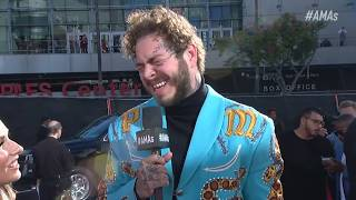 Post Malone Red Carpet Interview - AMAs 2018