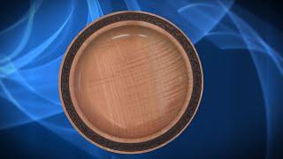 Textured Maple Bowl