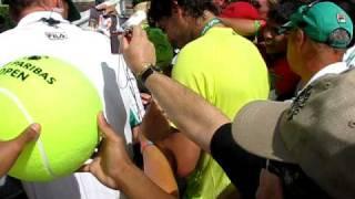 Rafa Nadal Rock Star Autograph Madness At Indian Wells