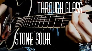 ALL IN ONE GUITAR TUTORIAL - Stone Sour - Through Glass