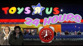(CHASED!!) 24 HOUR OVERNIGHT TOYS R US FORT ⏰  | CHASED BY OVERNIGHT WORKER (ALARM WENT OFF!)