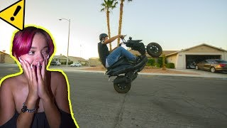 HOW TO WHEELIE ON A 50cc SCOOTER | THE EASY / BEST WAY | Fast 100cc Big Bore Moped
