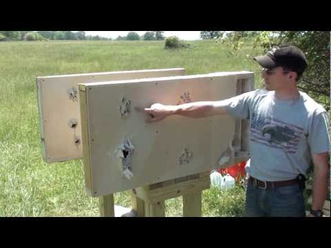 Home Defense Interior wall penetration test with 12 gauge shotgun