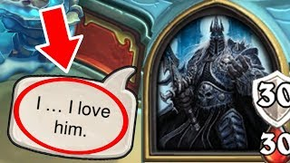 [Hearthstone] 19 SECRET INTERACTIONS in The Lich King Boss Fight   Knights of the Frozen Throne