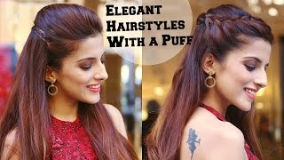 2 Min ELEGANT Hairstyles With A Puff For A Cocktail Party - Hairstyles For Indian Wedding Occasions