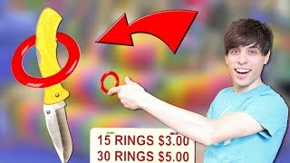 Won Knives at Carnival Ring Toss! | Carnival Games w/ Matt3756