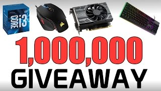 1,000,000 Subscriber Giveaway! iPhone 7 + Gaming PC & More!