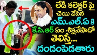 CM KCR Angry on TRS MLA Shankar For misbehaving with lady collector | Eagle Media Works