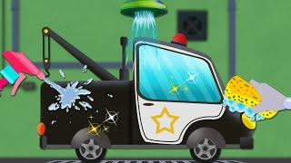 Car Wash Police | Car Videos For Babies | Cartoons For Toddlers by Kids Channel