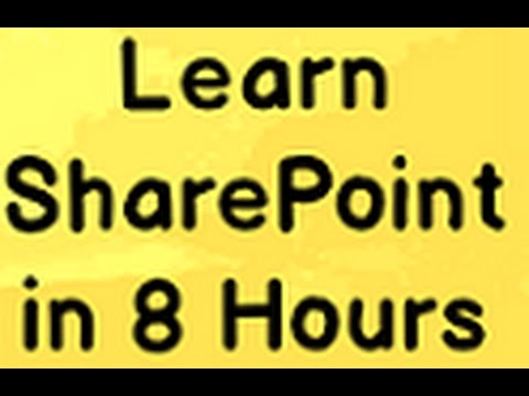 Learn Sharepoint Step by Step ( Sharepoint tutorial)