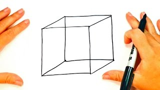 How to draw a Cube step by step   Cube Easy Draw Tutorial