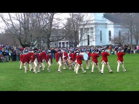 watch United States Army Old Guard - Fife and Drum Corps -Lexington MA   April 19, 2014