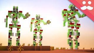 Making a MEGA WALKING ROBOT in Minecraft!