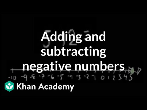 Adding/subtracting negative numbers   Pre-Algebra   Khan Academy