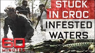 TV crew stuck in croc infested waters   60 Minutes Australia
