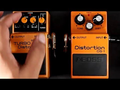 Boss Distortion DS 1 VS Boss TURBO Distortion DS 2 pedal comparison
