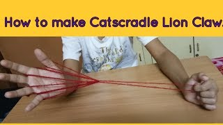 How to make Catscradle Lion Claw.