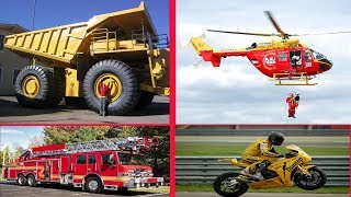 Learning Transports, Cars and Vehicles for Children Learn Vehicles Names for Kids Trucks Video