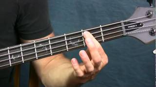 online bass guitar lesson money pink floyd