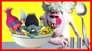 Dreamworks TROLLS BERGENS Chef Makes an Icky Poppy Salad Part 2 - Ellie Sparkles