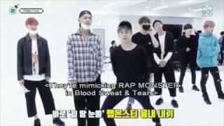 [방탄소년단] 남준이형 따라하는 막내라인