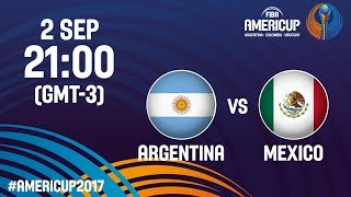 Argentina v Mexico - Full Game - FIBA AmeriCup 2017 (MEX, INA, MAL, TPE, IND only!)
