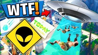 UFO CONFIRMED INVADING TILTED TOWERS?! Fortnite: Battle Royale (SEASON 4 BATTLE PASS)