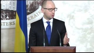 BBC News   Crystal clear that Russian army is in Ukraine, says PM Yatsenyuk