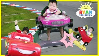 Babies and Kids Racing Cars 3 Lightning McQueen and Disney Surprise Toys Collection Opening