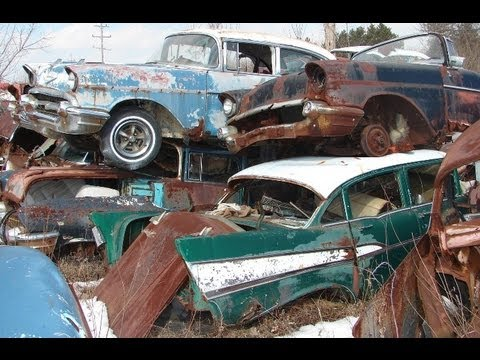 Xxx Mp4 Huge Classic Car Junkyard Wrecked Vintage Muscle Cars 3gp Sex