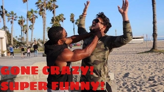 Pantsing People In The HOOD PRANK ! Gone Extremely Wrong!!!