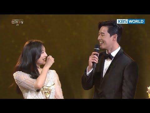 If Kim Jiwon were to choose between Park SeoJun vs. Jin Goo? [2017 KBS Drama Awards/2018.01.07]