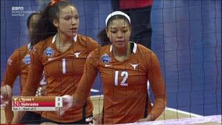 Texas v Nebraska, 12/15/2016, NCAA Women's Volleyball Semifinal Match