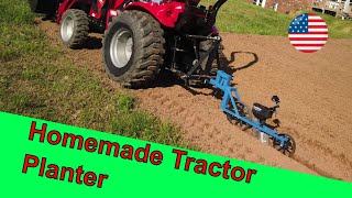 Pt 1 EarthWay 3 point hitch Planter conversion  (LS MT125 Subcompact tractor planting garden)