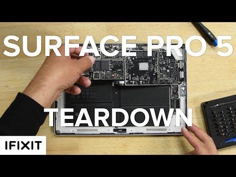 The Microsoft Surface Pro 5 Teardown