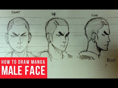 How To Draw Manga Face: Turnaround
