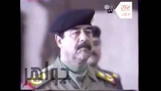 أمام السيدالرئيس القائد صدام حسين يقسم كلا من عزت أبراهيم  وعلي حسن المجيد وحسين كامل بالقسم العظيم