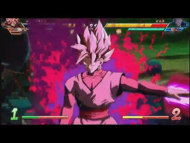 Dragon Ball FighterZ DRAMATIC FINISH! Hit/Black/Frieza VS Beerus/Goku/Gotenks Gameplay