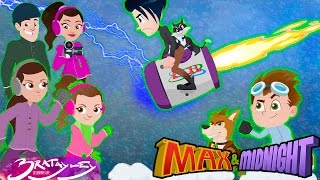 Max and Bratayley Girls Save City From WORLD BIGGEST BLIZZARD! Children Best Storm Escape Adventure!