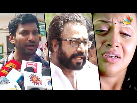 Shoot the molesters involved in Bhavana kidnap | Ponvannan, Vishal angry Speech | Nadigar Sangam