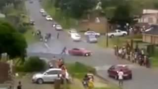 South Africa  Car Spinning Gone Wrong In Umlazi 22 Feb 2013
