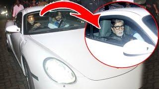 73 Yr Old Amitabh Bachchan Driving Sports Car Porche 911 On Mumbai Roads